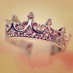 👑💍Rose Gold Princess Crown Ring